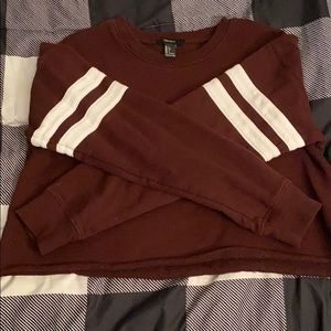 Maroon crop sweat shirt